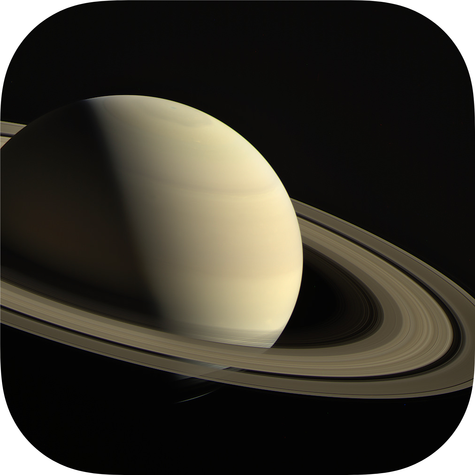 saturns atmosph cassini image - HD 1041×1041