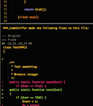 PHPCS Fixer screenshot