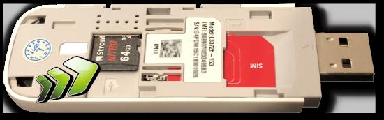 E3372h 4G USB modem with microSD card