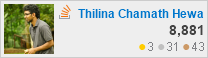 profile for Thilina Chamin Hewagama at Stack Overflow, Q&A for professional and enthusiast programmers
