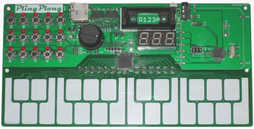 Photo of the soldered board
