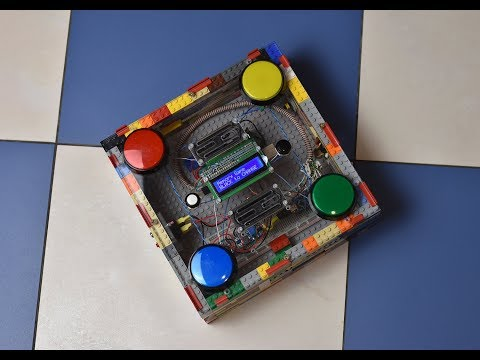 Nuclear BUTTON game for president Trump made from Lego bricks