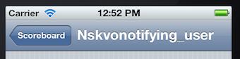 nsnotifying user