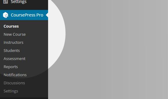 CoursePress - Courses menu