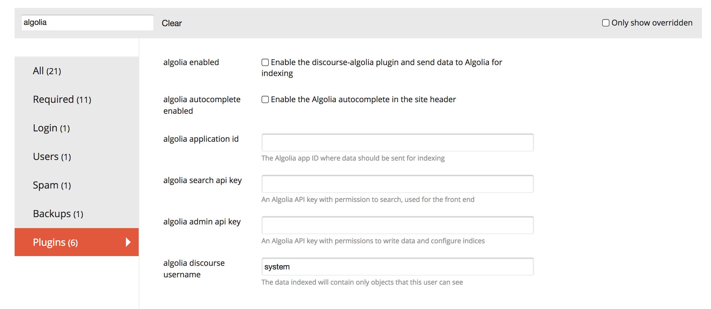 discourse-algolia configuration options
