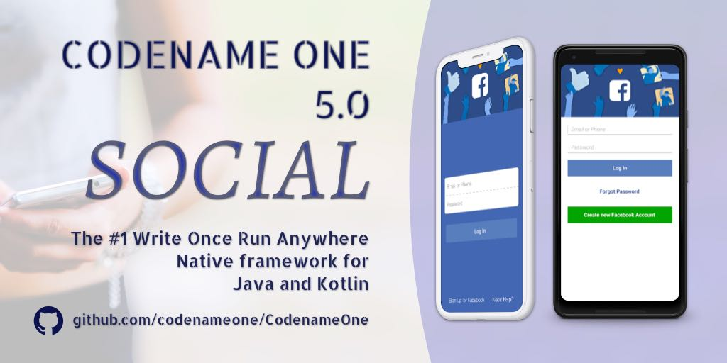 Codename One 5.0 - Social