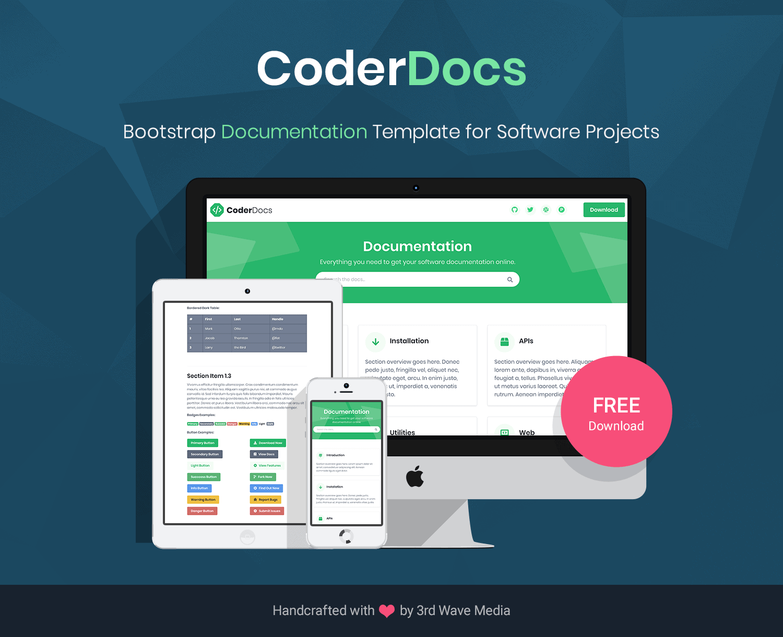 Bootstrap 5 Documentation Template CoderDocs