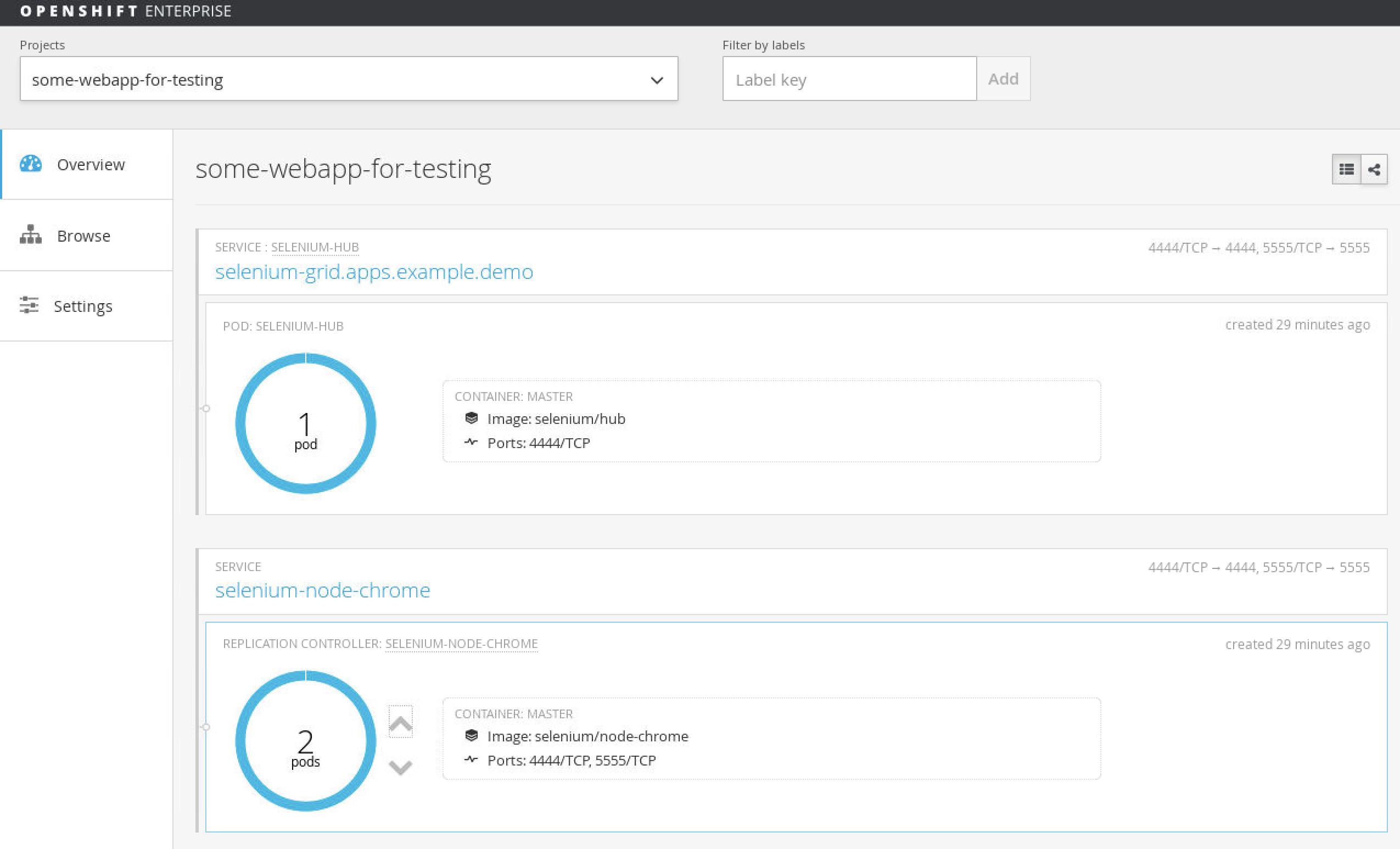openshift 1 hub 1 nodes