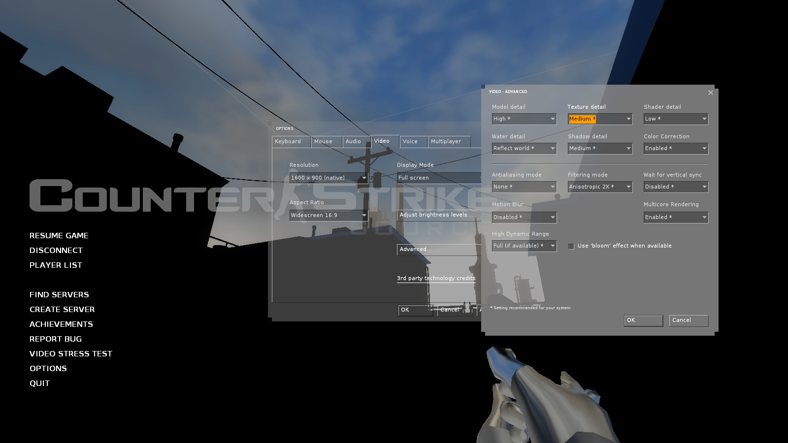 How to set up a microphone in the CC (Counter Strike) for a conversation