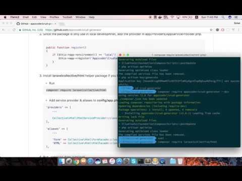 GitHub - appzcoder/crud-generator: Laravel CRUD Generator