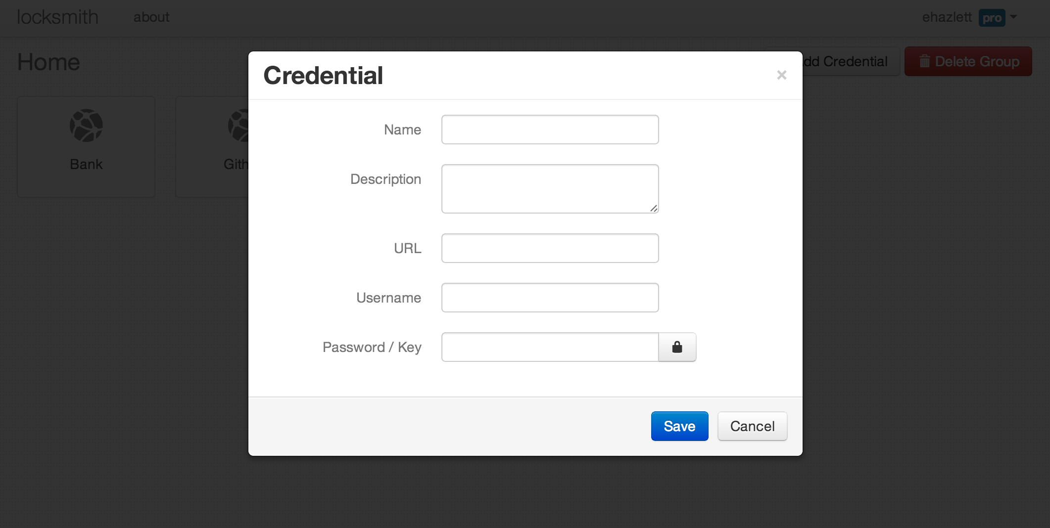 Add Credential