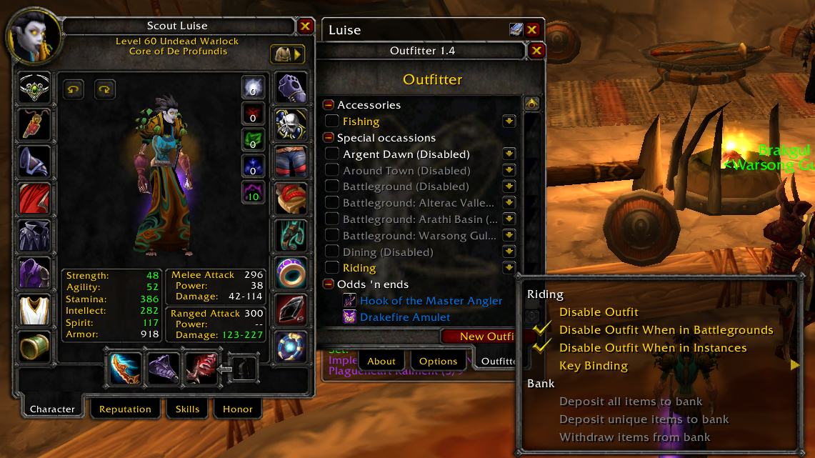 Outfitter - Legacy WoW - Addons and Guides for Vanilla, TBC and WoTLK