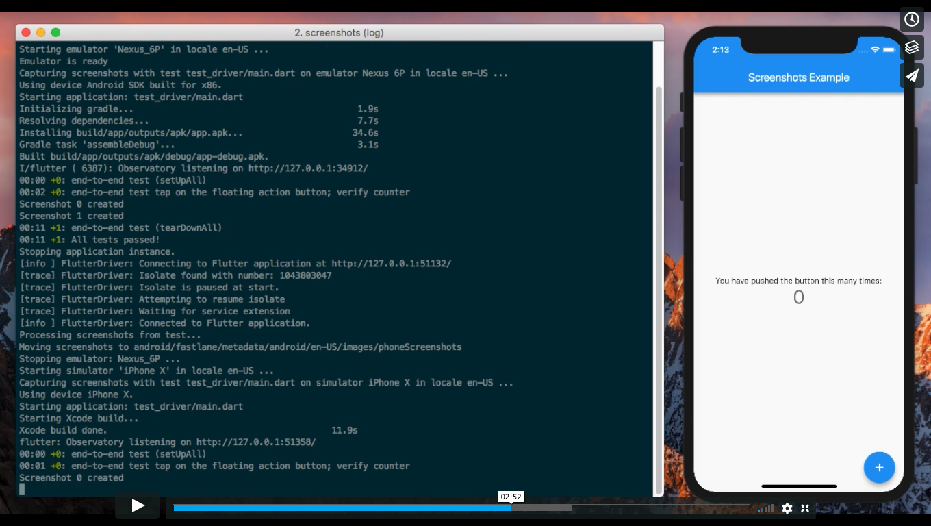 Screenshots: A command line utility and package for