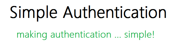 SimpleAuthentication - making authentication ... simple