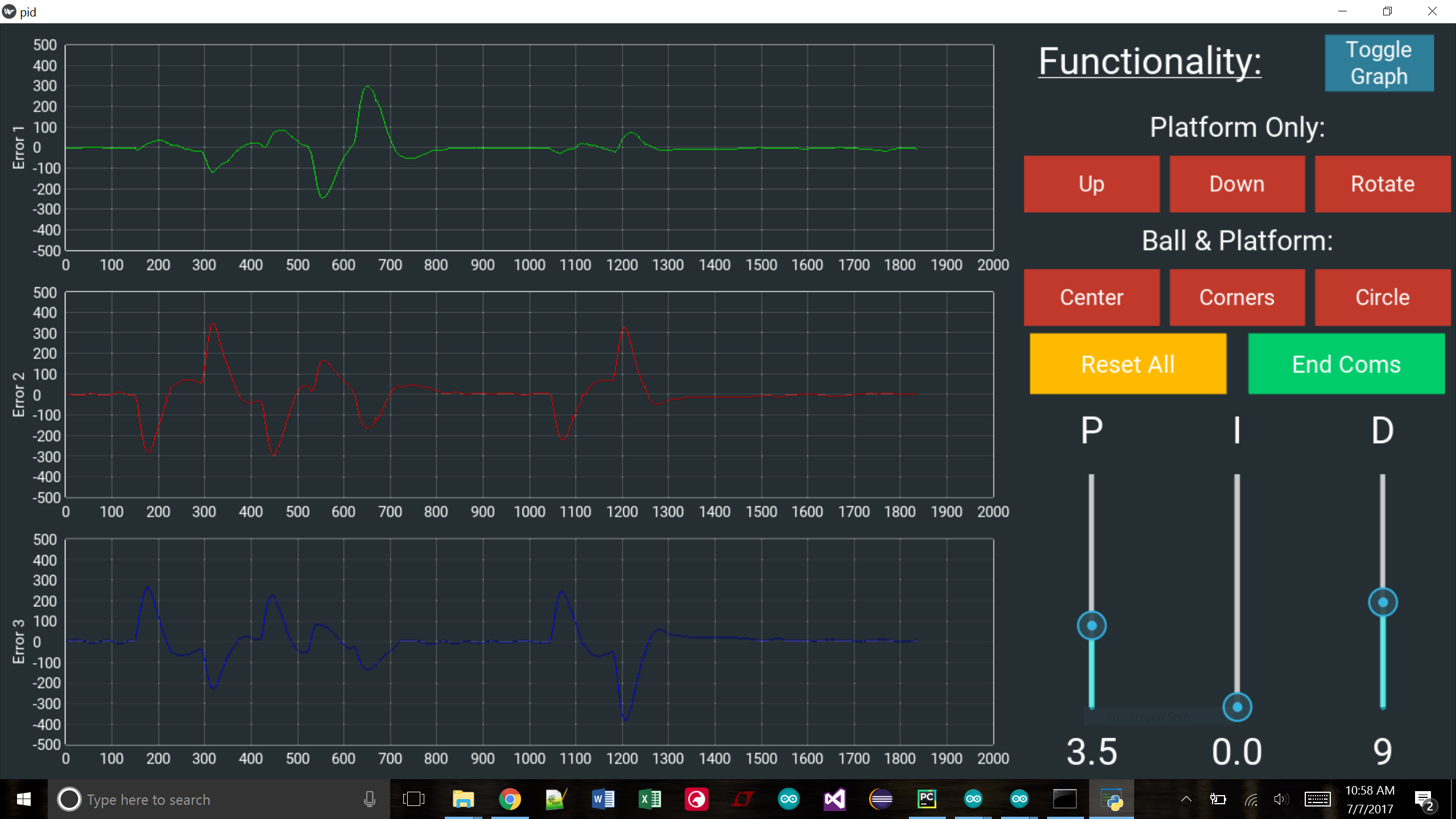 GitHub - schwertJake/Ball-On-Plate-Machine: 3 DOF Arduino
