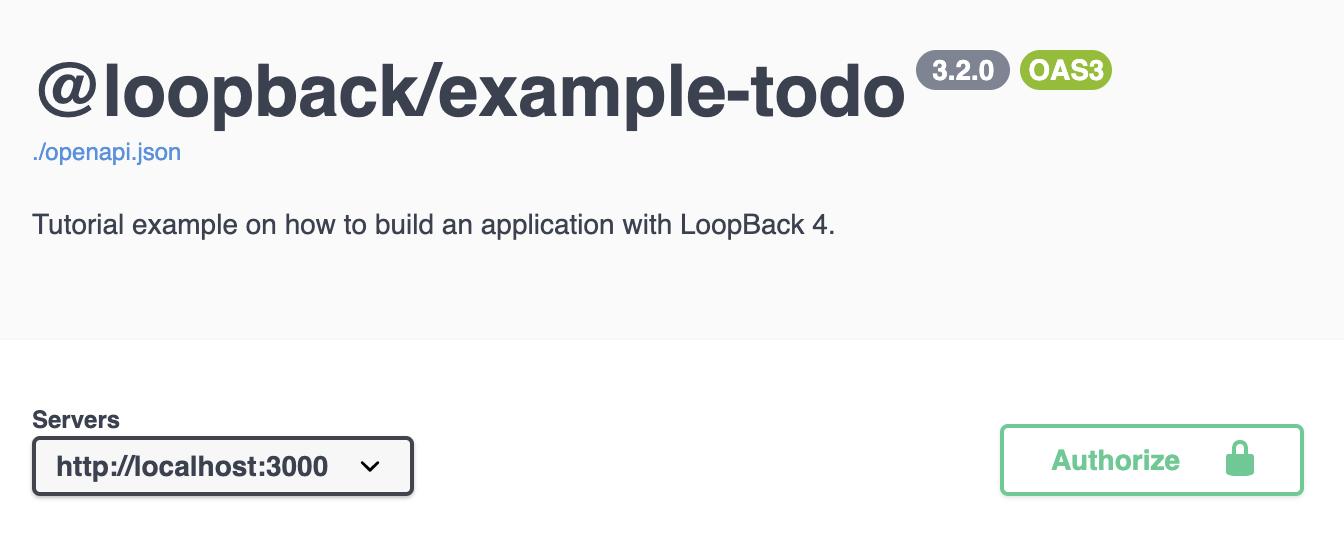 API Explorer with Authorize Button