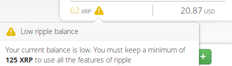 Insufficient reserve to create offer  · Issue #921 · ripple/ripple
