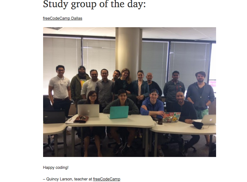 fCC Study Group of the Day - Dallas