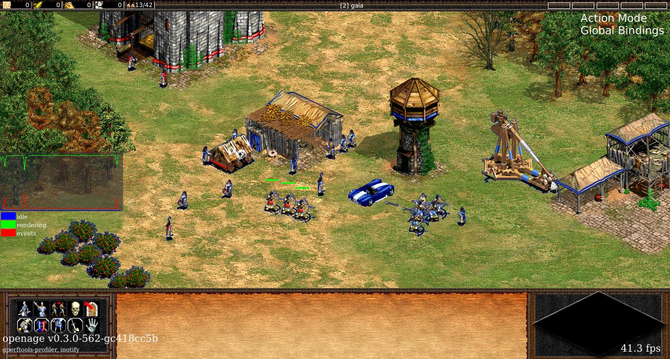 Screenshot of openage on Win10-x64