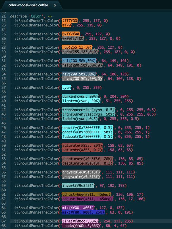AtomColorHighlight Screenshot
