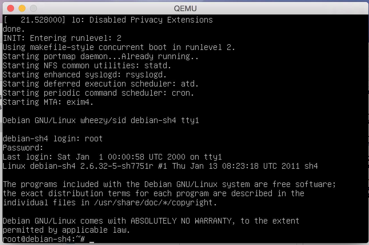 QEMU on OSX