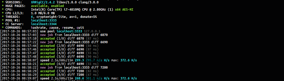 GitHub - Bendr0id/xmrigCC: Highly optimized Cryptonight / -lite