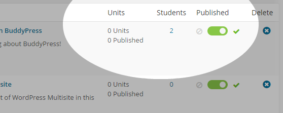 CoursePress - Courses - other options