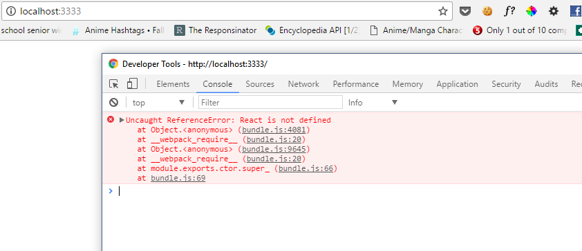 Unreference Error: React is Not Defined · Issue #693