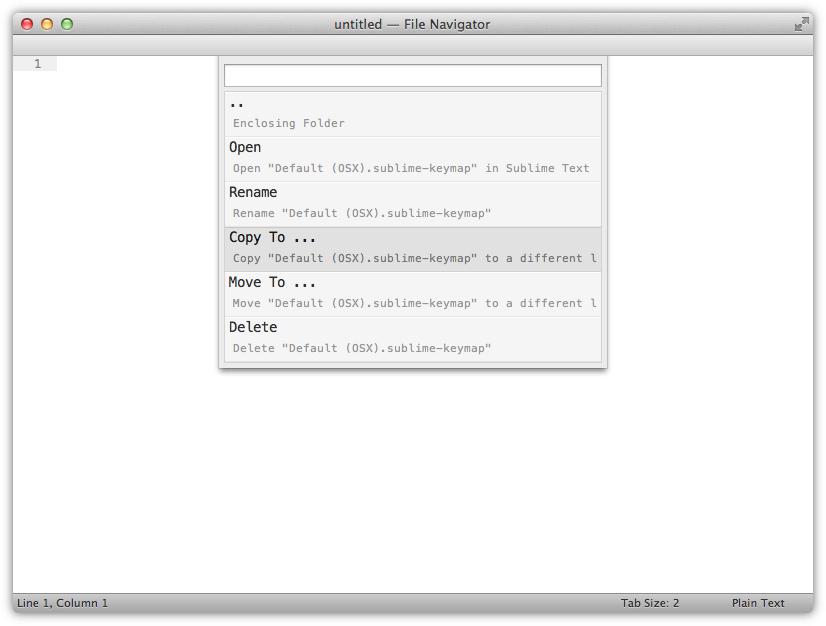 Navigator - File Actions
