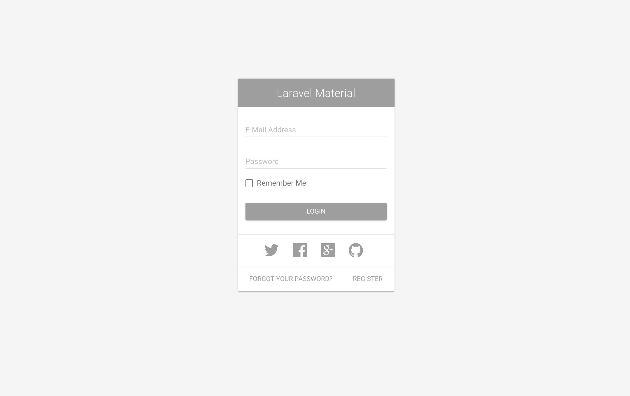 GitHub - jeremykenedy/laravel-material-design: Laravel 5 6