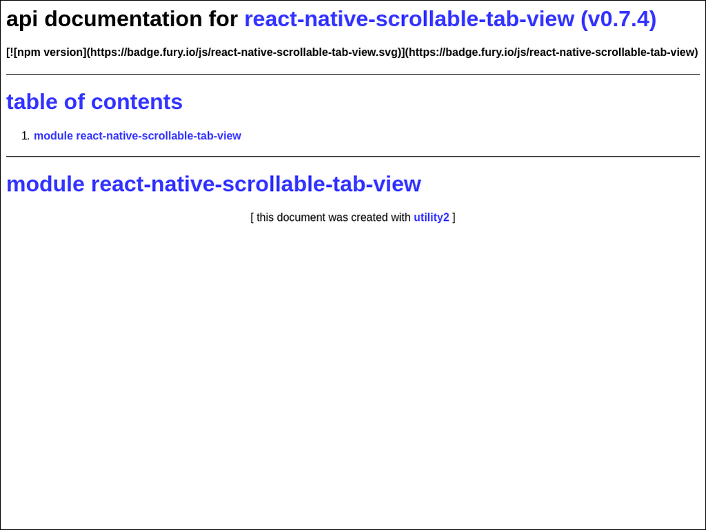 npmdoc-react-native-scrollable-tab-view 0 0 1 on npm