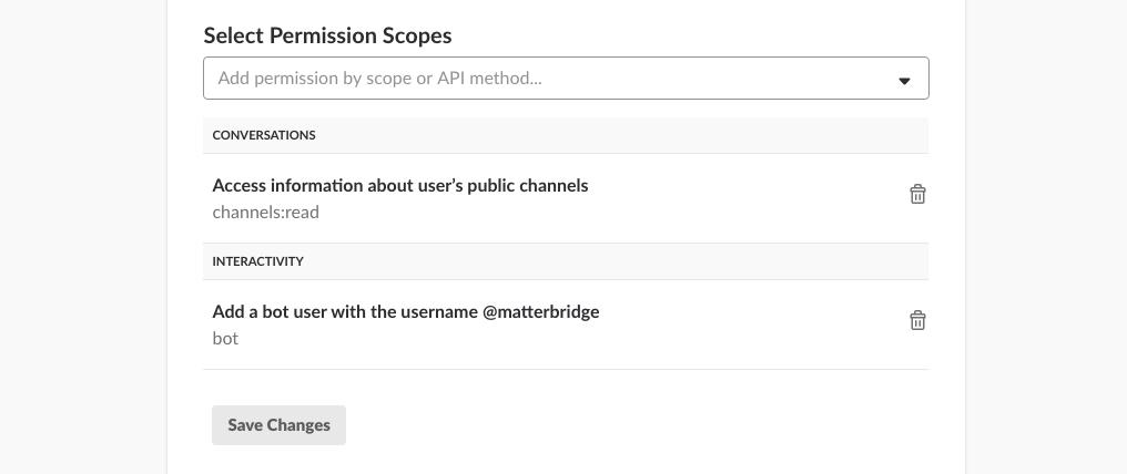 Add permission scopes