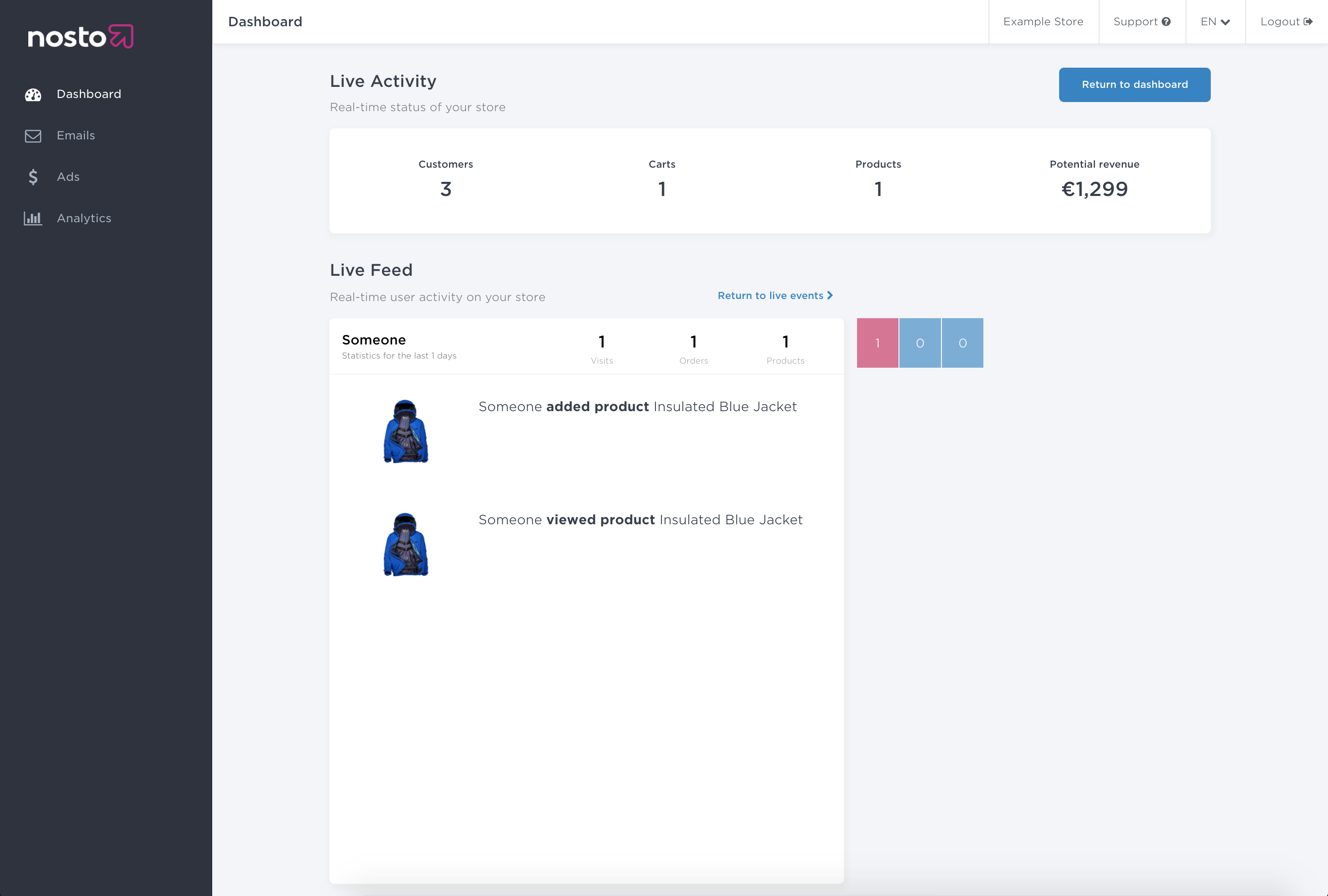 live-feed-product-cart