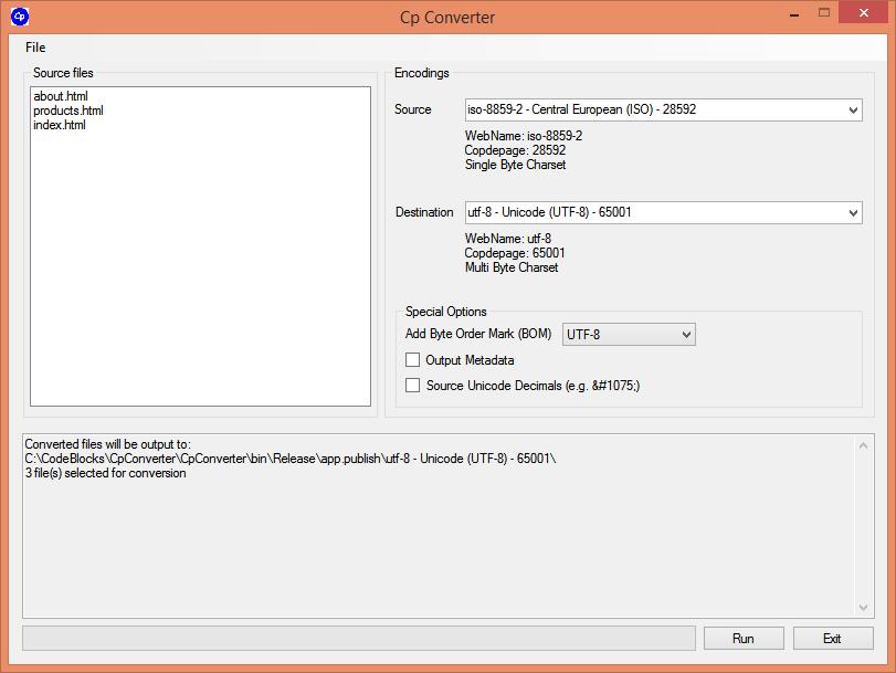 GitHub - mrexodia/CpConverter: Code Page Converter - Convert HTML