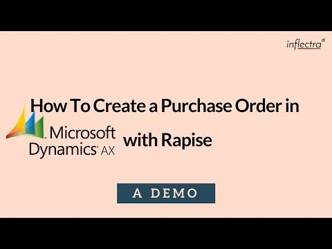 Creating a Purchase Order in Dynamics AX