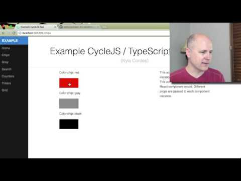 Video series explaining CycleJS example application