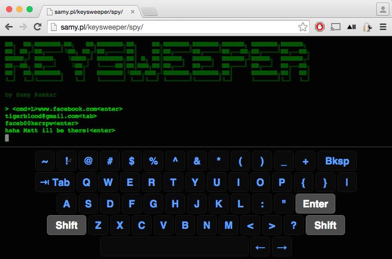 KeySweeper Live Инструмент мониторинга