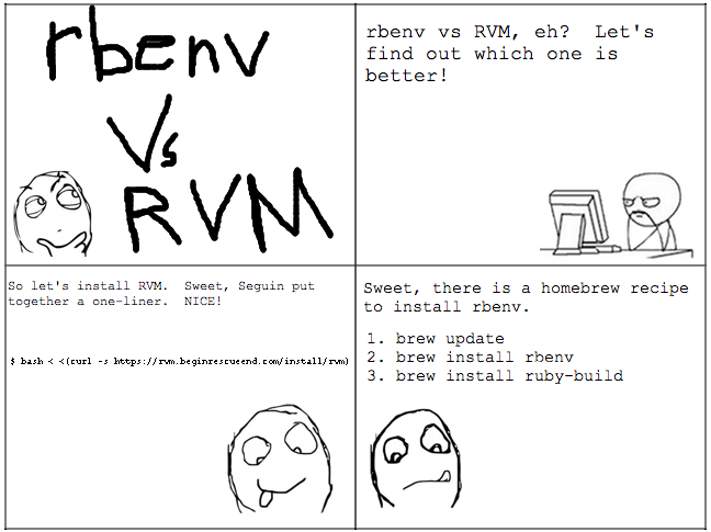 rvm and rbenv side by side install