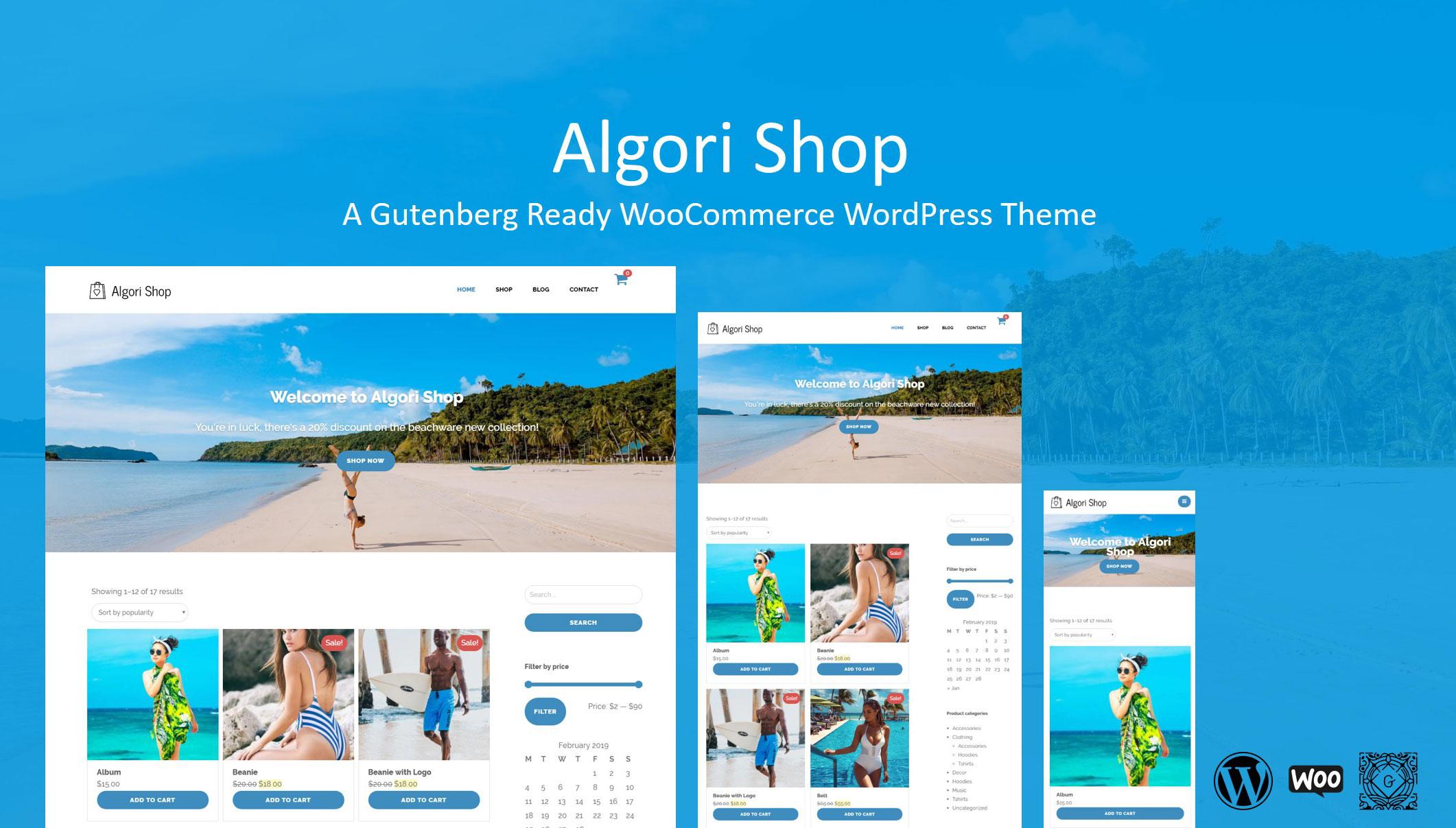 Algori Shop Gutenberg Ready WooCommerce WordPress Theme