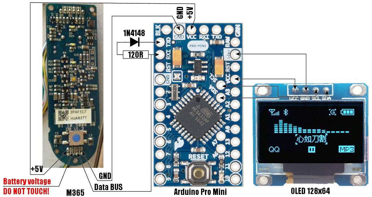 GitHub - augisbud/m365_dashboard: Xiaomi M365 Display V0 2