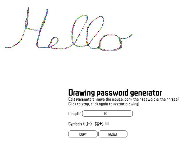 Github Tuttarealstep Drawing Password Generator Generate Your