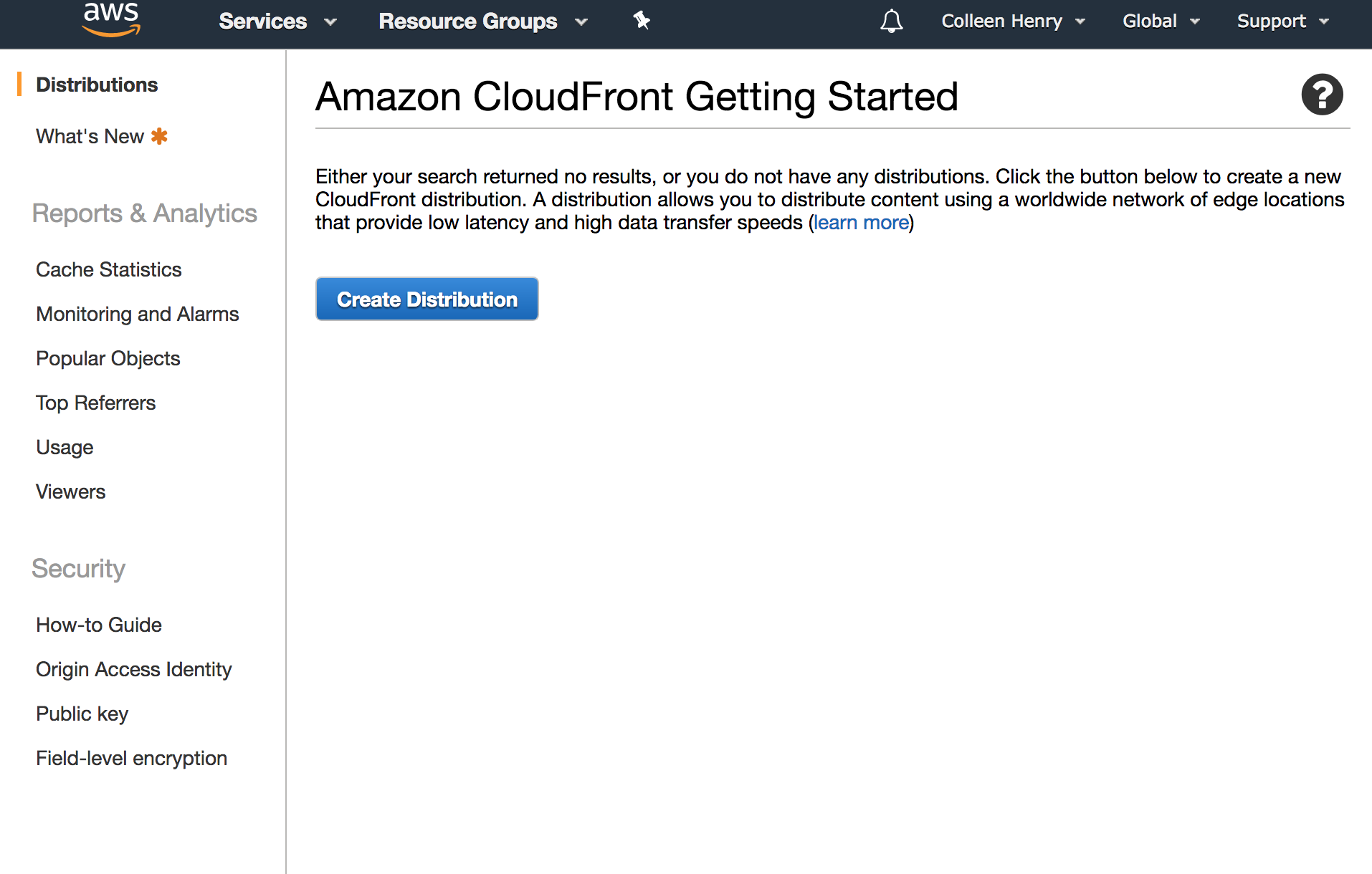 CloudFront Getting Started