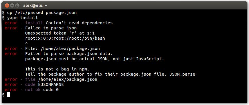 yapm/json-errors md at master · rlidwka/yapm · GitHub