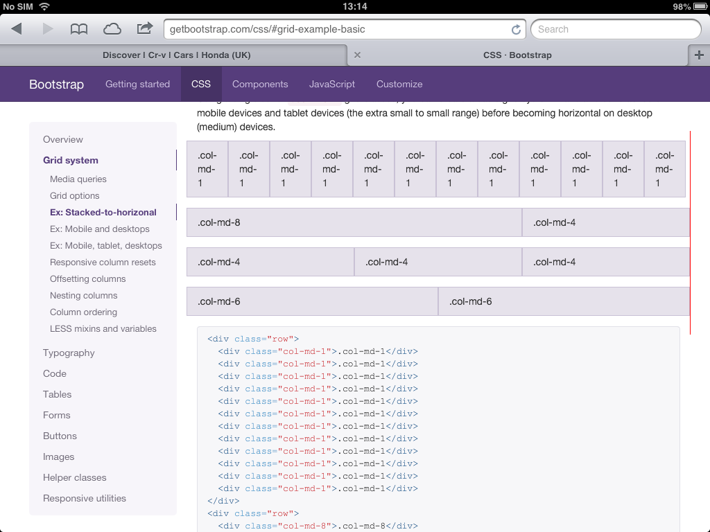 Twitter bootstrap grids bug on iPad · Issue #10723 · twbs