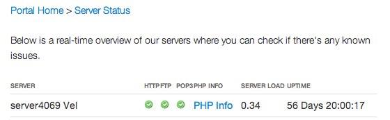 WHMCS - Server Status