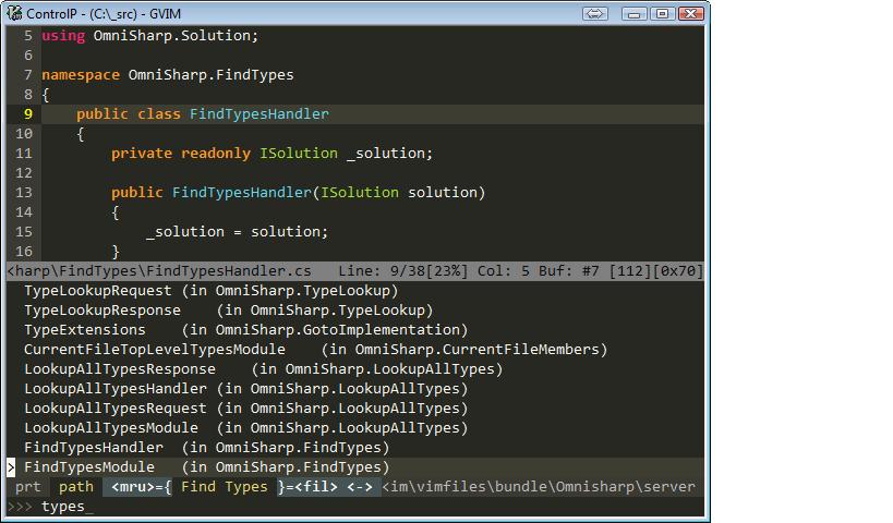 Find Types screenshot