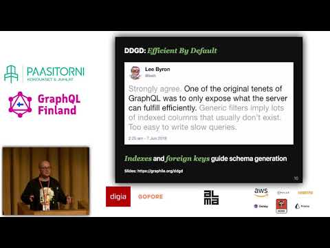Database Driven GraphQL Development at GraphQL Finland