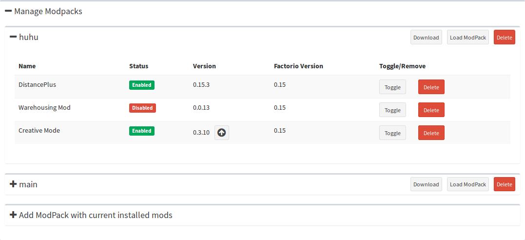 Factorio Server Manager Screenshot