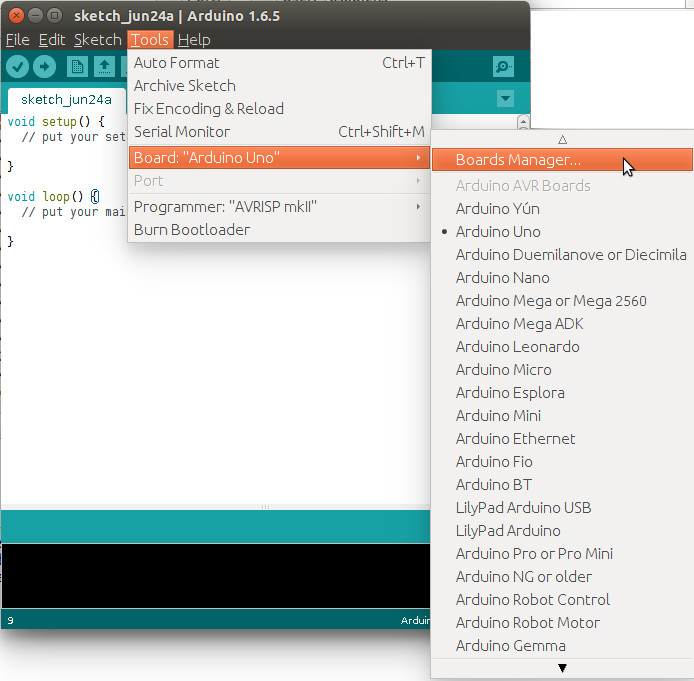 Installing panStamp cores and libraries for Arduino