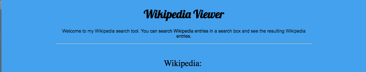 Early Wiki viewer